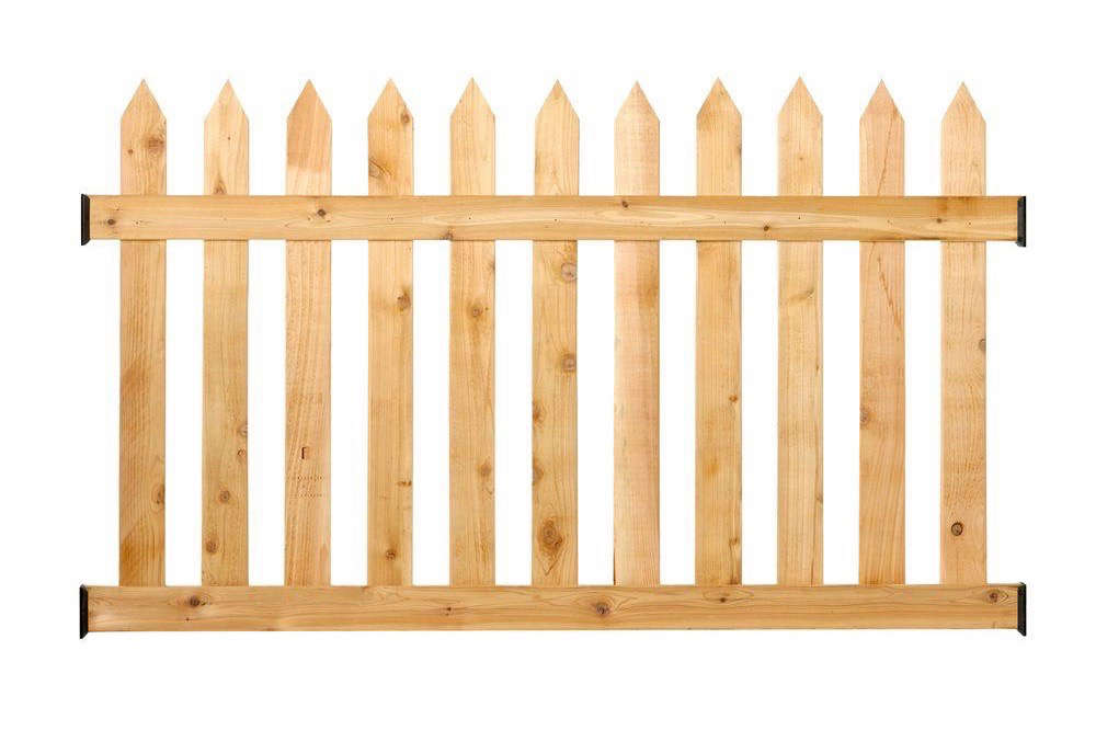 cedar picket fence home depot