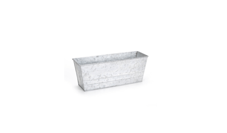 A \13-inchGalvanized Metal Ledge Planter is \$9.99 from Joann.
