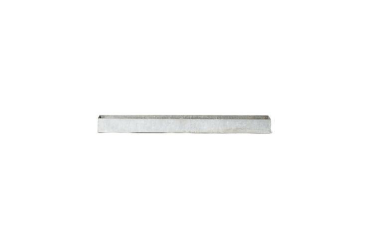 Made of \24-gauge steel, a 48-inch-longGalvanized Trough Planter has a slim profile at only five inches wide and four inches deep. Suitable for indoor or outdoor use, it&#8\2\17;s \$\1\28 from Terrain.