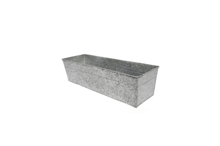 Embossed with a filigree pattern, aGalvanized Window Trough will be available in late spring for£\26.99 from Crocus.