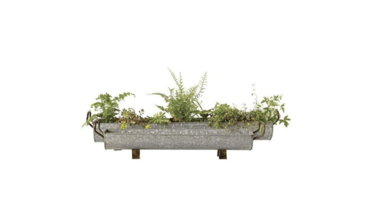 A two-pack of 34.65-inch-long grayGalvanized Iron Planters is $6