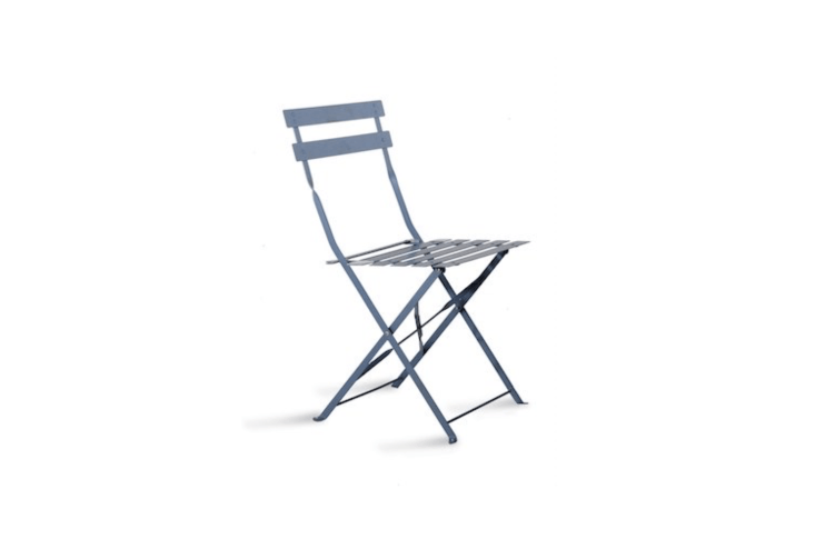 A set of two blueBistro Chairs is also available in green, charcoal, and steel; £50 at Garden Trading.