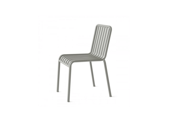 A galvanized powder-coated steelHay Palissade Chair in an anthracite color is £\189 from Utility Design.See more of this outdoor furniture collection from Hay atOutdoor Furniture: Metal Lawn Chairs Made Modern.