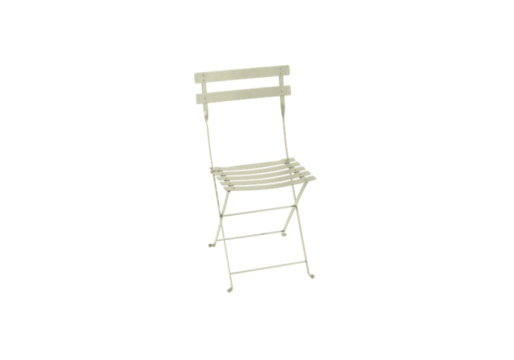 The bistro chair never goes out of style, and theFermob Bistro Metal Chair is the classic. Shown in a garden-friendly willow green color, it is \$\2\20 a pair at Lumens.