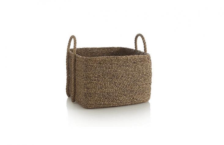 square basket rope handle Tyler Crate & Barrel