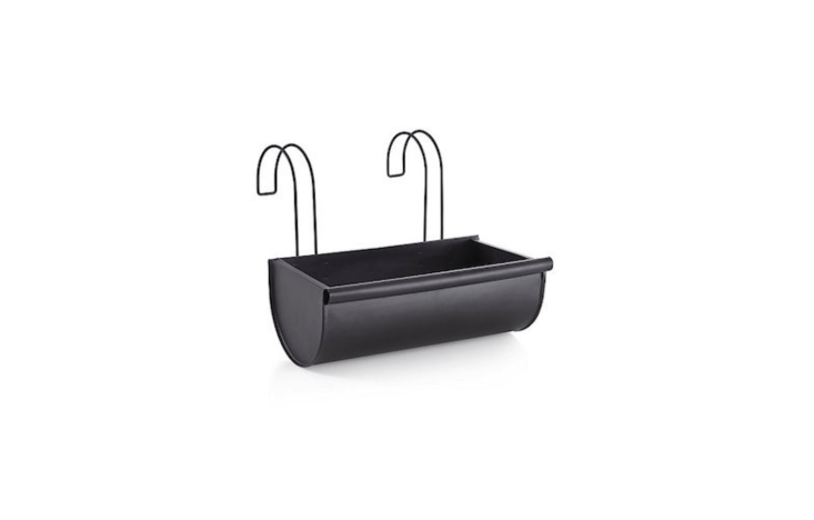 AKalla Short Rail Planter made of black coated steel is \$\24.95 at Crate & Barrel.