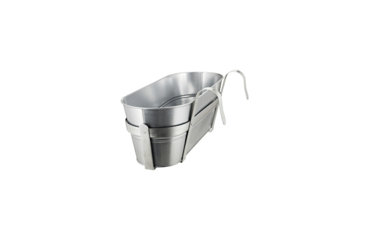 Ikea&#8\2\17;s galvanizedSocker flower box is \20 inches long; \$\14.99.