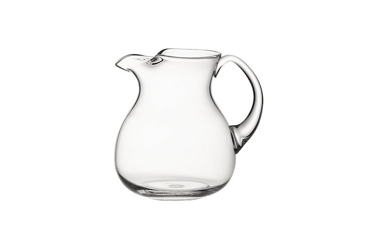 Cha Cha glass pitcher from Crate and Barrel