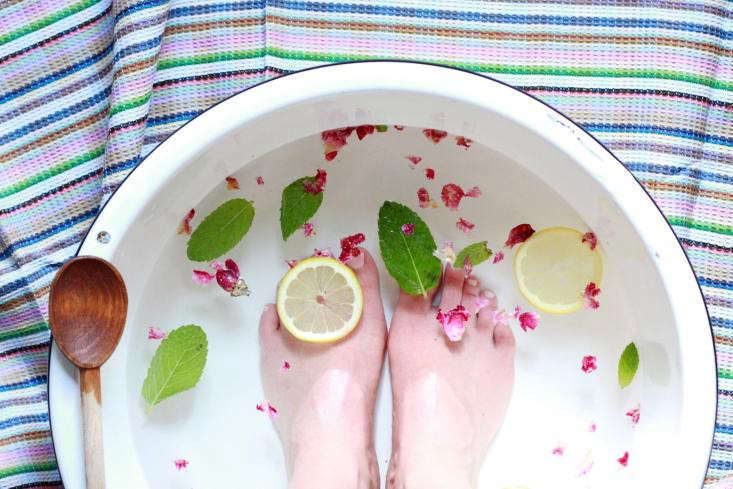 Occupy your kids by enlisting them to help you gather all the ingredients for this foot soak, then relax and enjoy the treatment! Photograph by Erin Boyle, from A Miracle Treatment to Make Your Feet Feel Like They Checked Into a Spa.