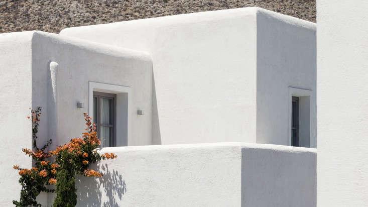 Whitewashed walls Anemi Hotel Folegandros island Greece