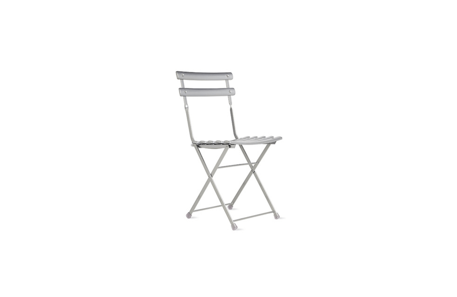 With a durable steel frame and weather-resistant powder-coated finish, the silver-colored Arc En Ciel Folding Chair weighs about  pounds and is $src=