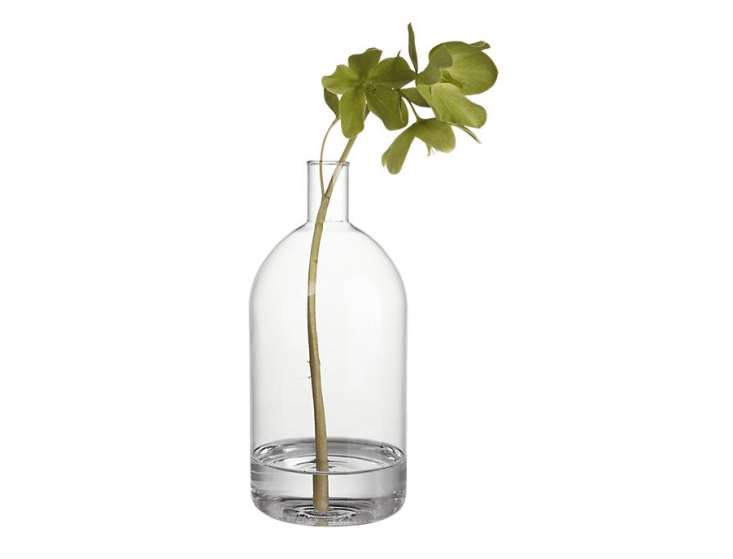 Handmade from chemistry lab glass, aTessa Vase is 7.75 inches tall; \$6.95 from CB\2.