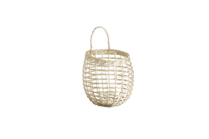 The same style of basket as above is available as the Shaker Onion Basket at Cooper Hewitt for \$45.