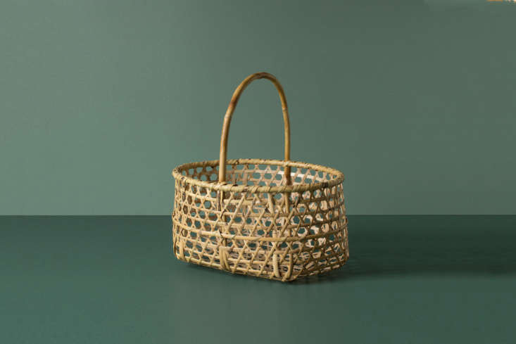 The Japanese Craft Apple Farmer&#8\2\17;s Basket is handwoven in bamboo for \$\185 at Everyday Needs.