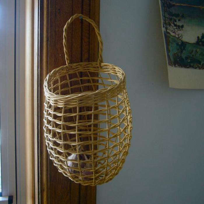 Made of reed, theShaker Onion Basket&#8\2\20;smells like a hayride through a forest on a fall day,&#8\2\2\1; says Alisa Grifo, proprietor of thehomewares storeKiosk. It&#8\2\17;s the same basket featured in contributing editor Justine Hand&#8\2\17;s house (photo at top of post) taken by photographer Matthew Williams. Contact Kiosk for restocking information. For more seeCool Storage: Shaker Onion Basket on Remodelista.