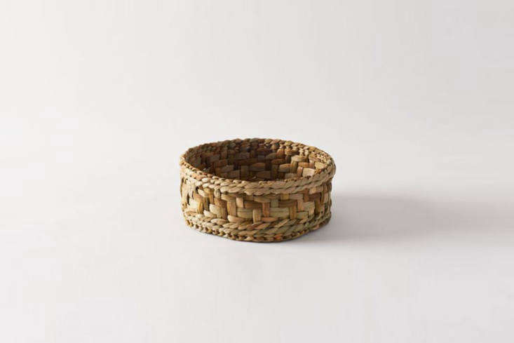 Designed for storing bread, the breathable, natural Rush Matters Bread Basket works just as well for root vegetables; \$\1\10 at Shed in Healdsburg. (Photograph from March where it was previously sold.)