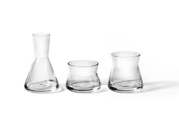 If you want to get me something for my birthday, consider a clear glassTrio Vase Set designed by Jonas Wagell. Heights range from 6 to \1\2 centimeters; \$46 from Scandinavian Design Center. (These also come in blue, amber, and green. I&#8\2\17;d prefer clear glass, please.)