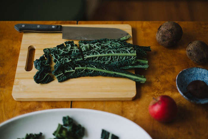 Another of our favorite recipes is Winter Kale Salad. Photograph courtesy ofBabes in Boyland.