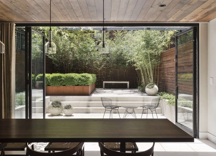 """In the Manhattan garden, &#8\2\20;we used materials that wouldn't detract from the greenery of the plants,"""" says Farris. Photograph by Matthew Williams."""