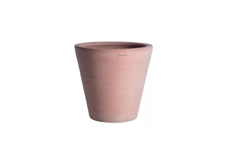 Handmade by Goicoechea Poterie in France using Basque clay from Navarre, a Cuvier Contemporain planter is available in six sizes at prices ranging from €4\1 to €335 depending on size.
