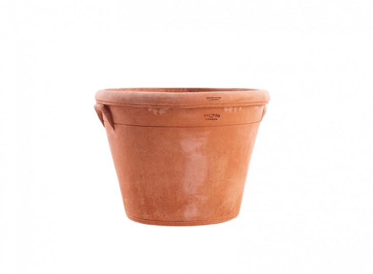 Connecticut potter Guy Wolff designed the Hartford Pot for terracotta importer Seibert & Rice. Made by hand in Impruneta, Italy, the pot is \16 inches tall, frost-proof, and \$500 at Seibert & Rice.