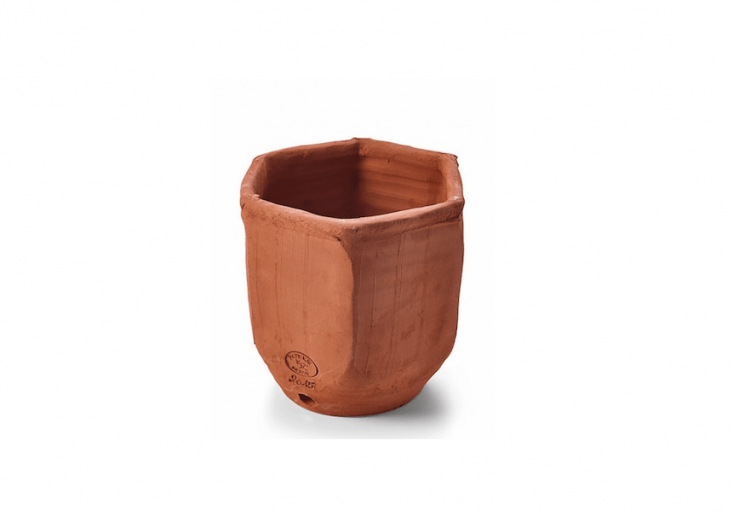 A six-sided Terracotta Herb Pot handmade in France by Poterie Redan is €\16 from Manufactum. Nestle seven together to create a honeycomb-like cluster.