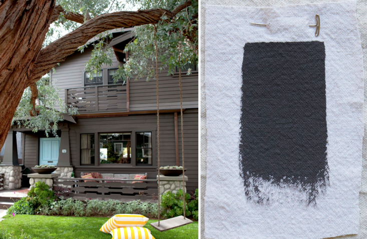 LA designersNickey Kehoe Inc.had this house painted inBenjamin Moore Iron Mountain, a dark gray with a rich brown undertone. The same shade is also a favorite ofGeremia Design and Klopf Architecture, both based inthe San Francisco Bay Area.Photograph byAmy Neunsinger.