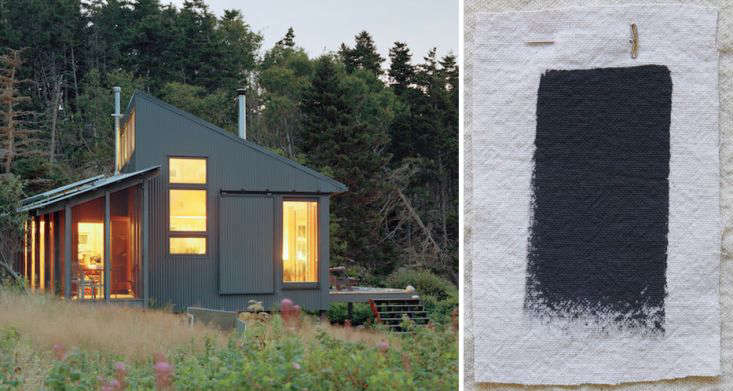 NYC-based architect Alex Scott Porter has used Benjamin Moore Gravel Gray on several projects, including this cabin on a Maine island. Gravel Gray is the darkest of the shades recommended here.