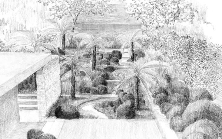 Tom Stuart-Smith's drawing for this London townhouse oasis