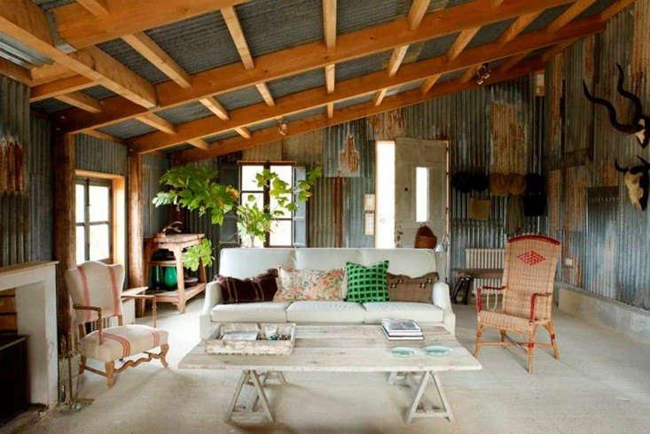 Isabel Lopez Quesade corrugated coop cottage in France