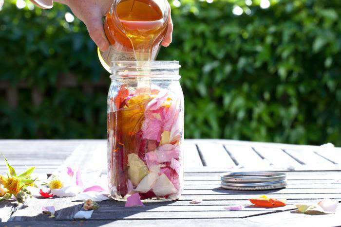 See DIY: Rose Petal Honey for step-by-step instructions. Photograph by Marla Aufmuth.