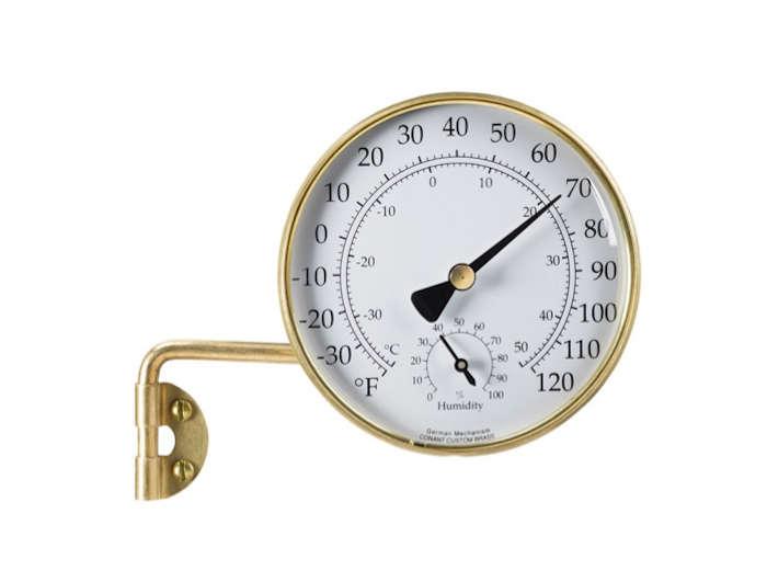 Brass outdoor weather station l Gardenista
