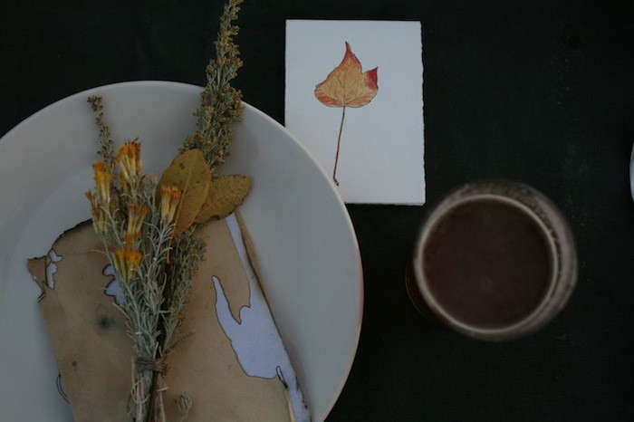 A foraged Thanksgiving table, fromInto the Wild: A Canadian Thanksgiving, one of our favorites.