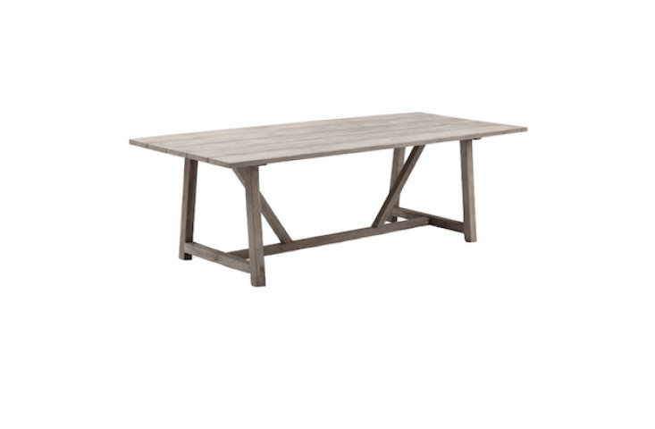 A George Outdoor Table made of recycled teak is \16,995 SEK from Artilleriet.