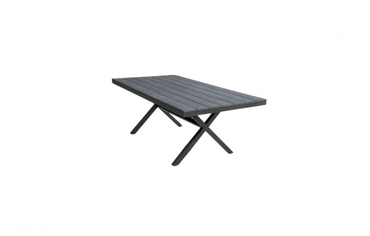 With a tabletop made of recycled plastic and an aluminum frame, a charcoal-colored Noosa Dining Table is\$699.30 AU from the Furniture Shack.