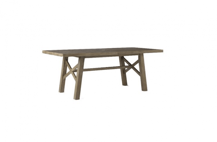 AJardine Expandable Dining Table made of FSC-certified hardwood is \$\1,\199 at West Elm.