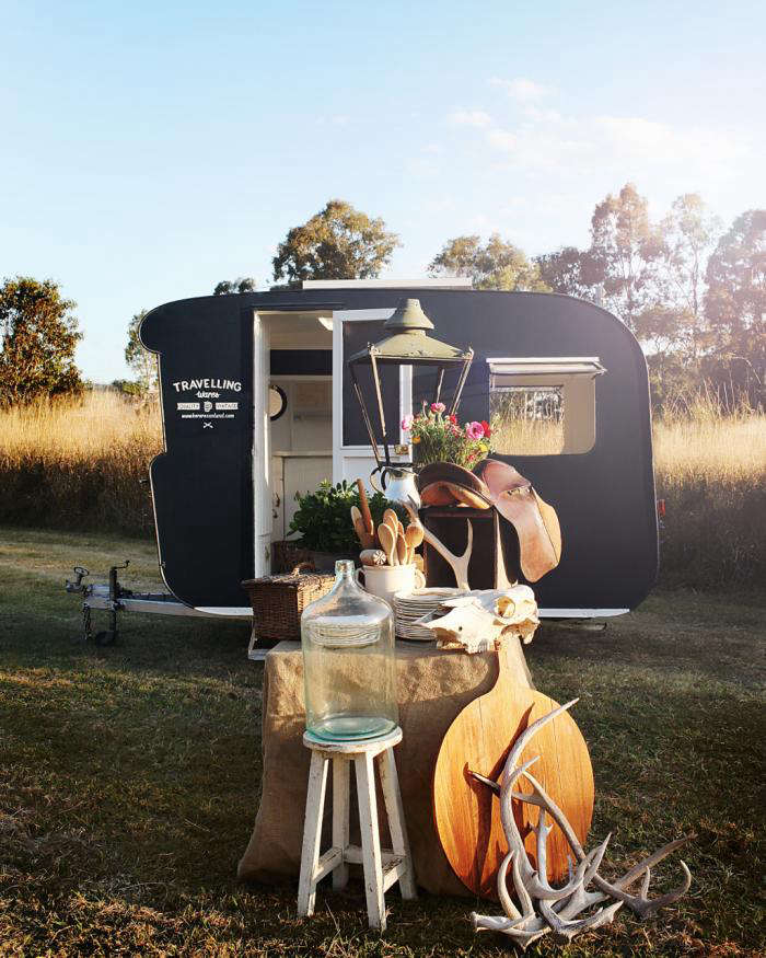 Kara Rosenlund takes her wares on the road in Australia, where she offers up practical, well-curated, vintage items from a restored \1956 Franklin Caravan. For more, see A Mobile Brocante in Australia on Remodelista.