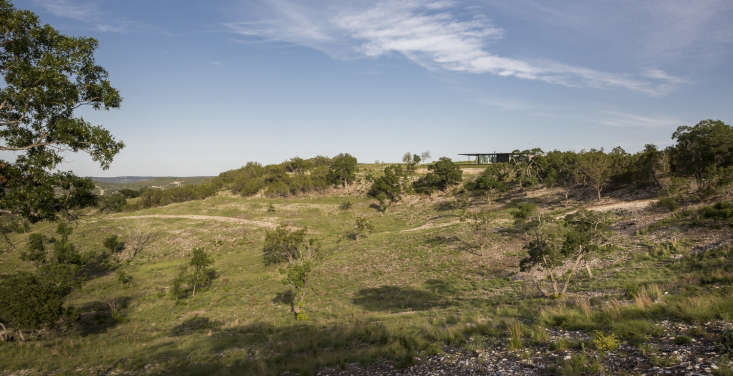 Landscape architects Studio Outside sited the half-mile-long entrance road to take advantage of views, with curves and turns designed to create &#8