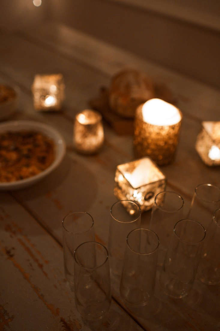 Not necessary, but highly advised: a collection of votives to set the mood.