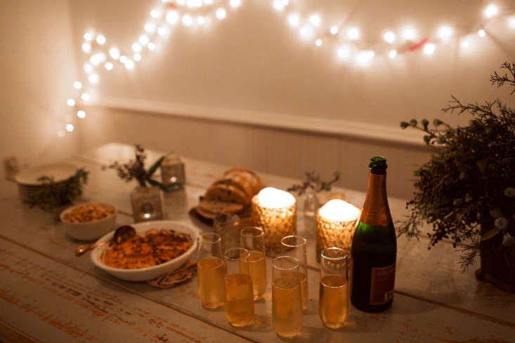 The spread, with festive greenery peppered throughout byLily Peterson.