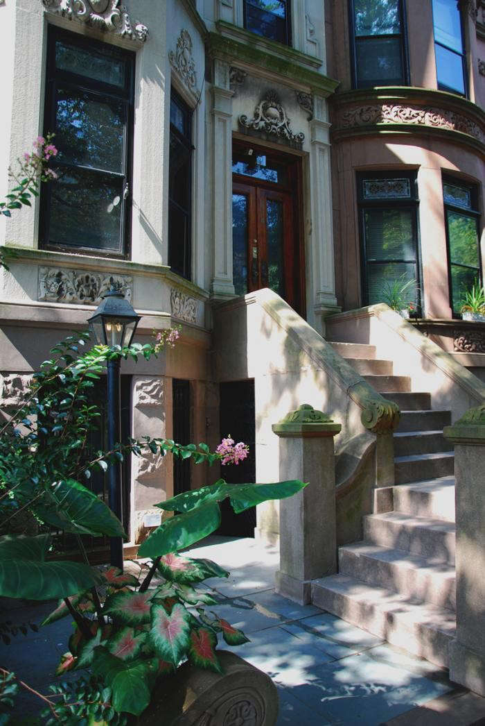 The front stoop of a Park Slope townhouse restored by Drew Lang of Lang Architecture. Photograph courtesy of Lang Architecture.