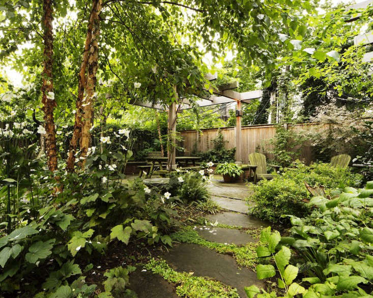 Kim-Hoyt-Architect-Boerum-Hill-Garden-with-Lush-Trees-Foliage-Gardenista