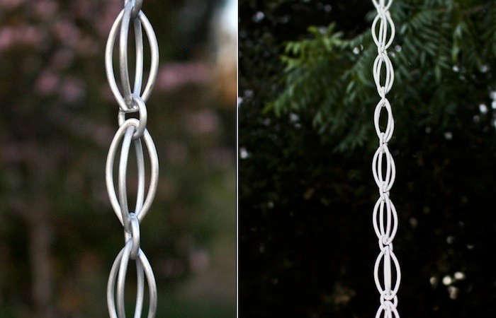 double oval loop rain chains