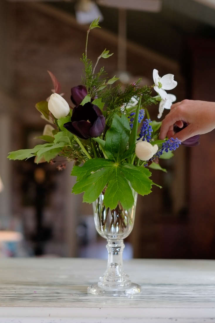 Brooklyn floral designer Tara Douglas grew her own bulbs for her Missouri wedding (SeeTara Getting married: DIY Wedding FlowersPand the Big Day.) To these she added foraged elements from her grandmother&#8