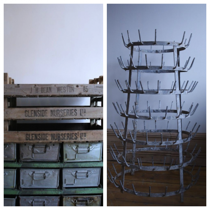 Vintage-crates-and-bottle-rack-Agapanthus-Interiors-Gardenista