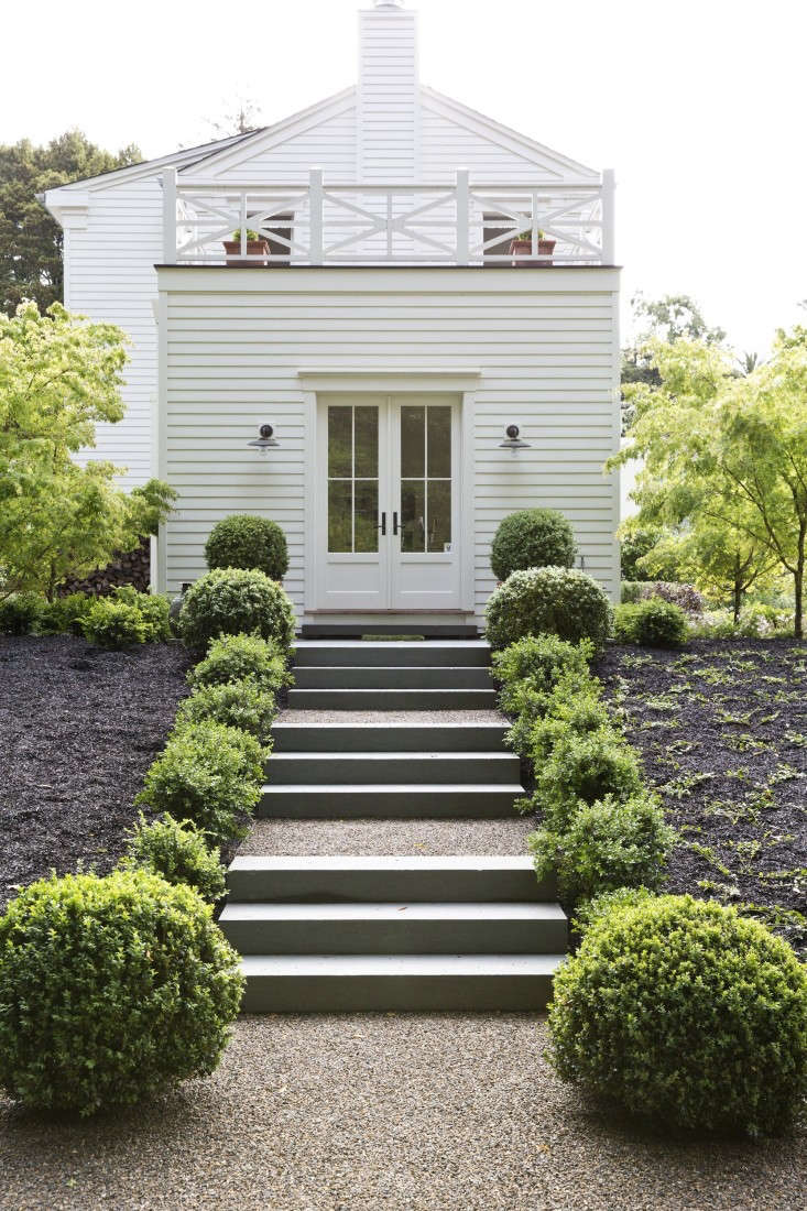 Architect Barbara Chambers transformed a slope into a gracious backyard feature in her garden in Mill Valley, California. See more in Architect Visit: Barbara Chambers at Home in Mill Valley. Photograph by Nicole Franzen for Gardenista.