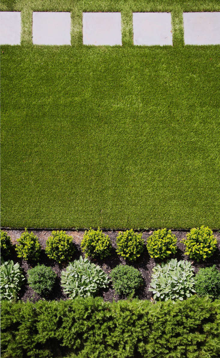 Artificial grass by DuPont ForeverLawn. For more of this garden, see Architect Visit: Barbara Chambers at Home in Mill Valley, CA. Photograph by Liese Johannssen for Gardenista.