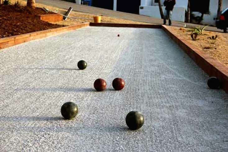 Photograph via Myco Supply, which sells Bulk Crushed Oyster Shells for bocce courts.
