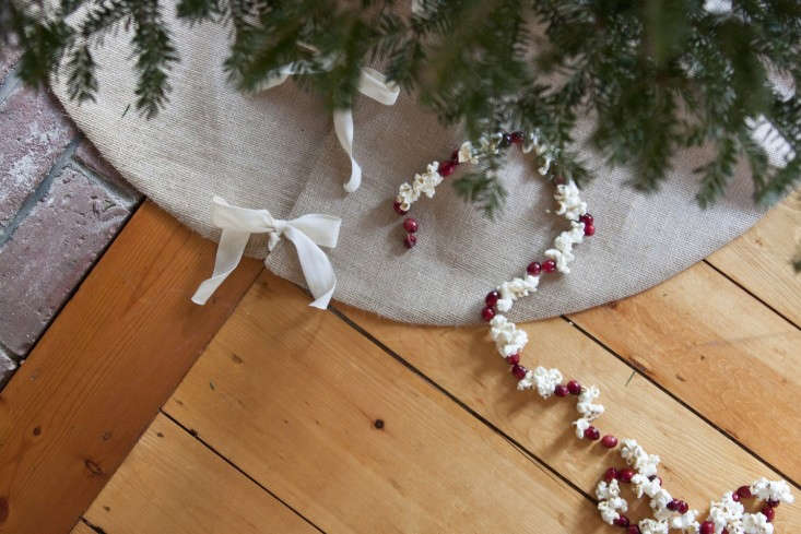 You can sew your own Christmas tree skirt with our easy step-by-step instructions at DIY: Burlap Christmas Tree Skirt. Photograph by Sarah Waldo Jagger.