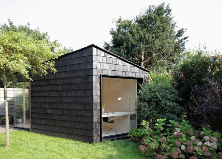 In the Netherlands, Amsterdam-based architect Serge Schoemaker put every inch to use, designing a modern shed to serve as office, accommodation for overnight guests, and bicycle storage. Read on at Outbuilding of the Week: A 3-Square-Foot Backyard Guest House (and Storage Shed) to see the floor plan.Photograph by Raoul Kramer courtesy ofSerge Schoemaker.